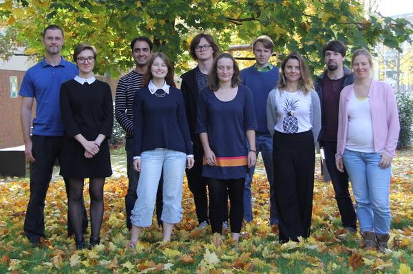 2017: (left to right) Michael, Ekaterina, Virag, Aksana, Bogdan, Franziska, Nikolai, Juliana, Bjoern, Katrin